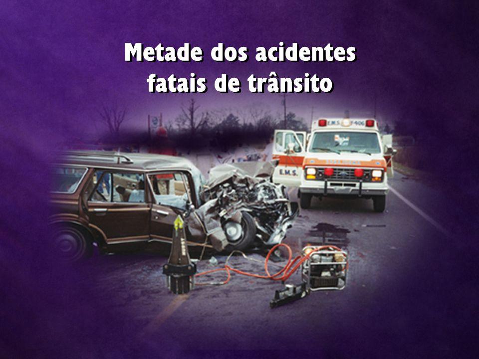 Metade dos acidentes fatais de trânsito Metade dos acidentes fatais de trânsito