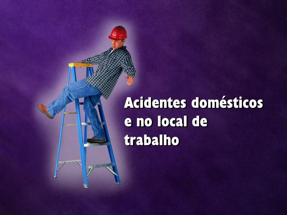 Acidentes domésticos e no local de trabalho