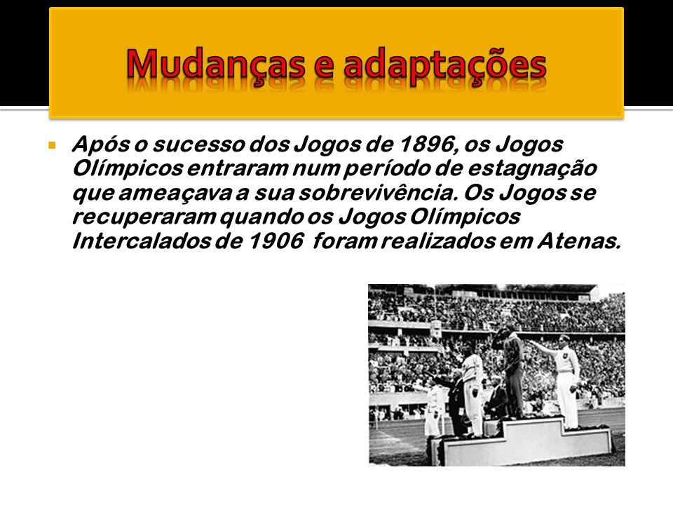  Após o sucesso dos Jogos de 1896, os Jogos Olímpicos entraram num período de estagnação que ameaçava a sua sobrevivência. Os Jogos se recuperaram qu