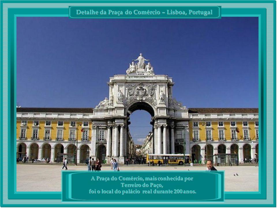 Detalhe da Praça do Comércio – Lisboa, Portugal A Praça do Comércio, mais conhecida por Terreiro do Paço, foi o local do palácio real durante 200 anos.