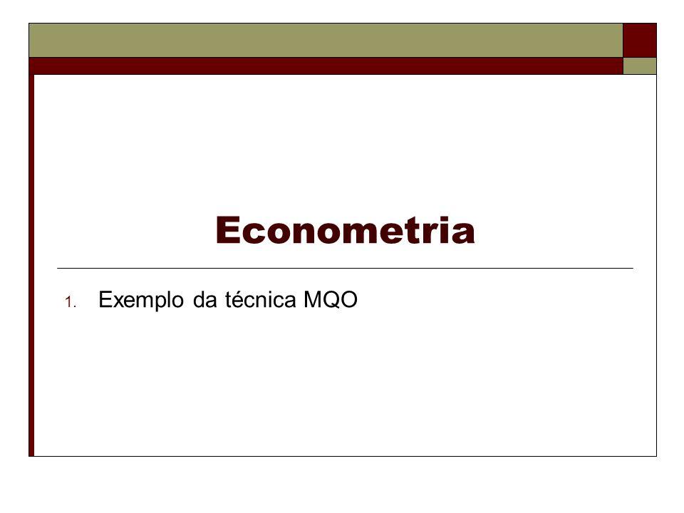 Econometria 1. Exemplo da técnica MQO