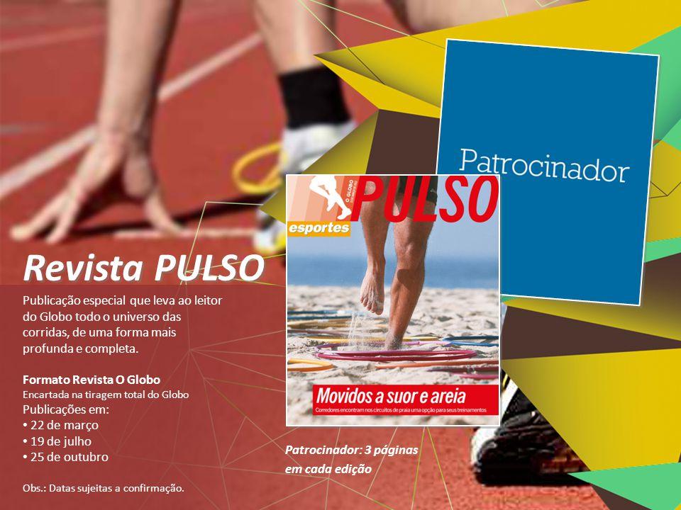 O Caderno de Esportes do Globo destaca a cobertura de importantes corridas do circuito internacional: Maratona do Rio, Meia Maratona do Rio, Maratona de Nova York e São Silvestre.