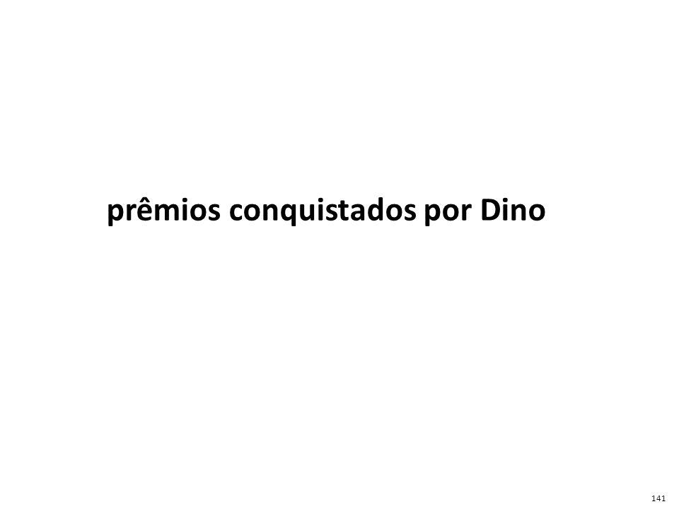 prêmios conquistados por Dino 141