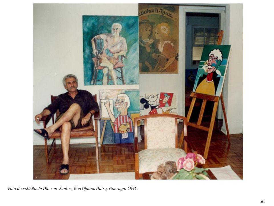 Foto do estúdio de Dino em Santos, Rua Djalma Dutra, Gonzaga. 1991. 61