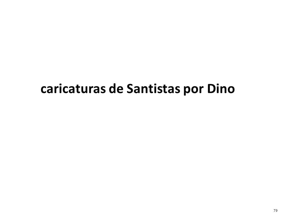 caricaturas de Santistas por Dino 79