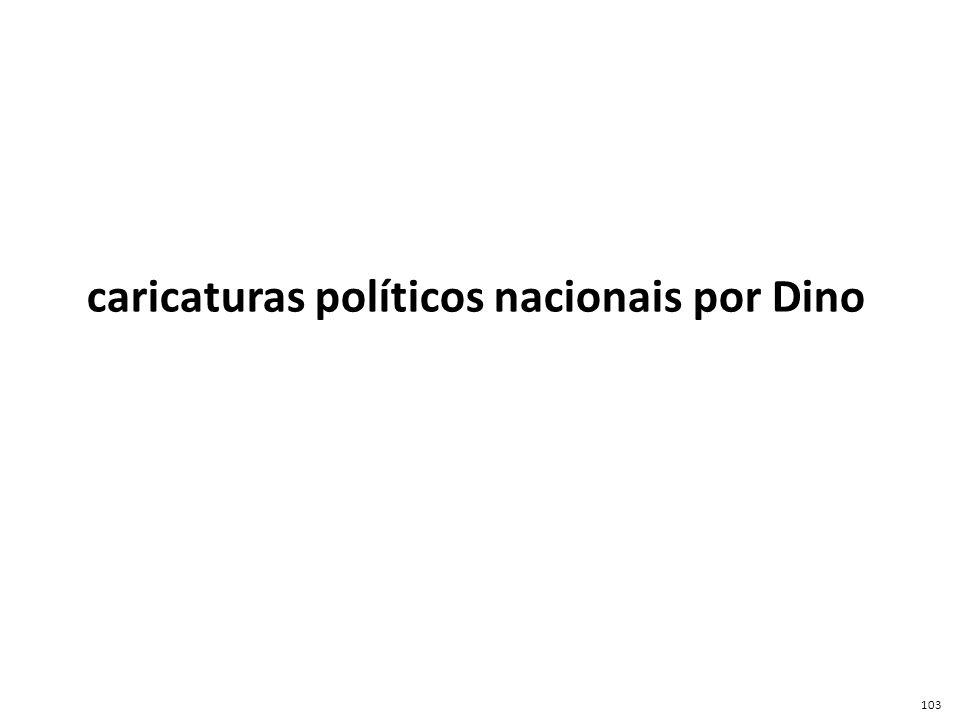 caricaturas políticos nacionais por Dino 103