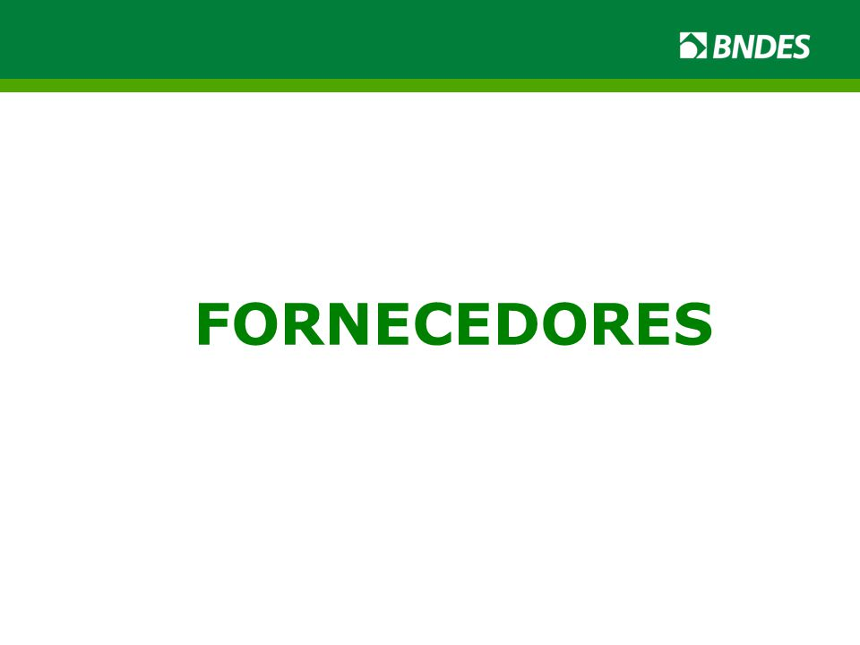 FORNECEDORES