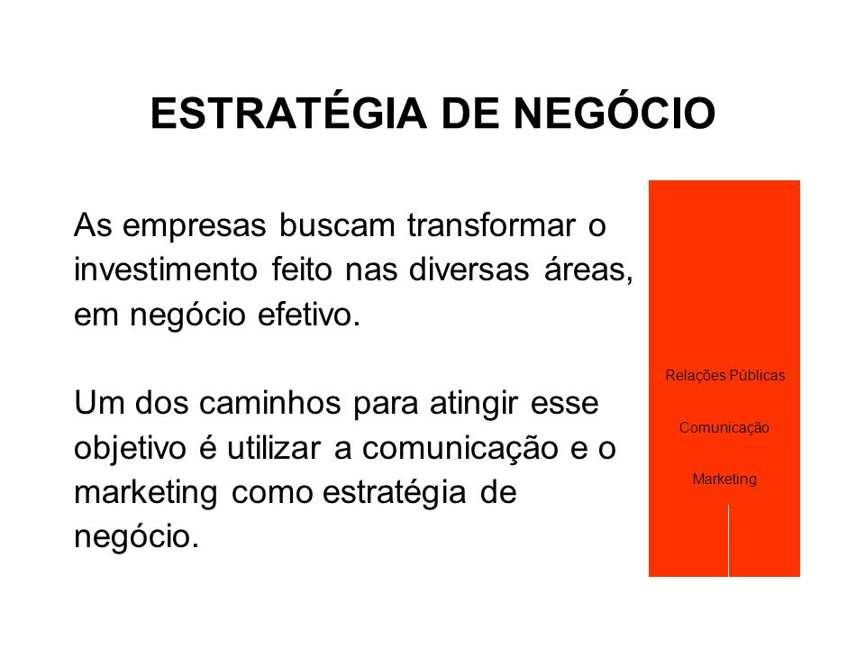 DEFININDO UMA ESTRATÉGIA DE COMUNICAÇÃO  Trabalhar a imagem institucional da sua empresa.
