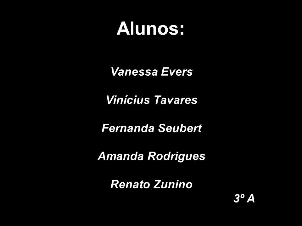 Alunos: Vanessa Evers Vinícius Tavares Fernanda Seubert Amanda Rodrigues Renato Zunino 3º A