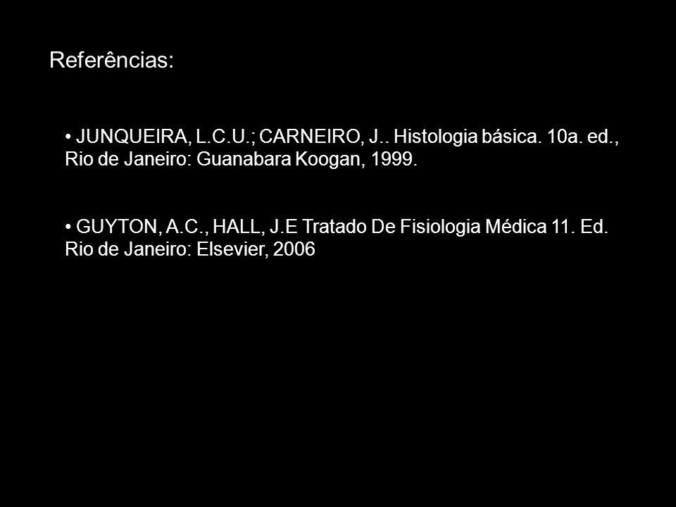 • JUNQUEIRA, L.C.U.; CARNEIRO, J.. Histologia básica. 10a. ed., Rio de Janeiro: Guanabara Koogan, 1999. • GUYTON, A.C., HALL, J.E Tratado De Fisiologi