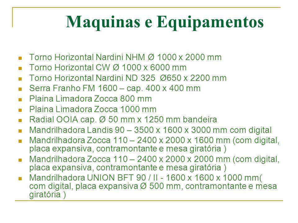 Maquinas e Equipamentos  Torno Horizontal Nardini NHM Ø 1000 x 2000 mm  Torno Horizontal CW Ø 1000 x 6000 mm  Torno Horizontal Nardini ND 325 Ø650