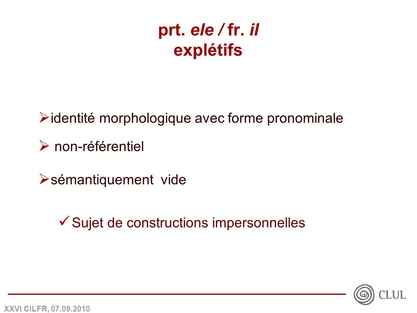 XXVI CILFR, 07.09.2010 prt. ele / fr.