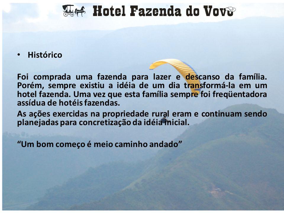 • Negócio: É um Hotel Fazenda que possui como atrações: • Cantinhos Prediletos • Atividades Rurais • Diversão e Lazer • Esportes Radicais • Fauna e Flora • Salão de Eventos • Restaurante Country