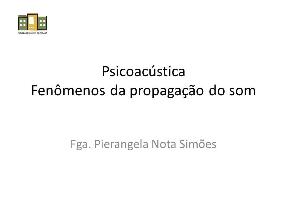 Psicoacústica Fenômenos da propagação do som Fga. Pierangela Nota Simões