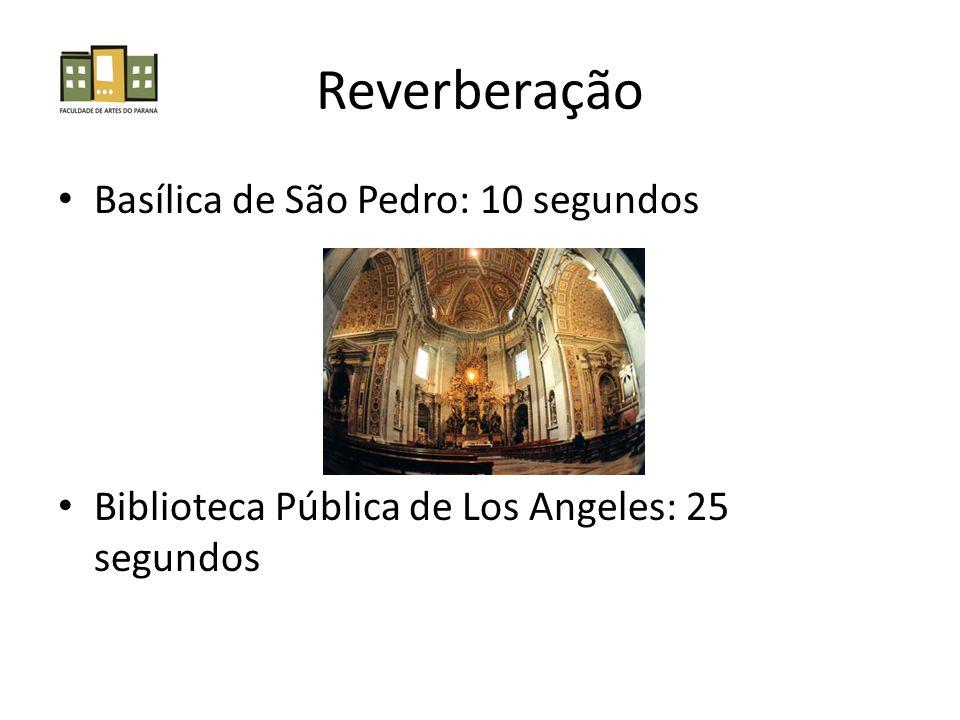 • Basílica de São Pedro: 10 segundos • Biblioteca Pública de Los Angeles: 25 segundos