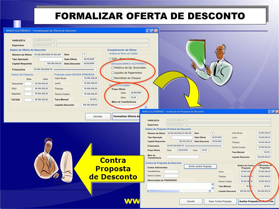 FORMALIZAR OFERTA DE DESCONTO Contra Proposta de Desconto Contra Proposta de Desconto