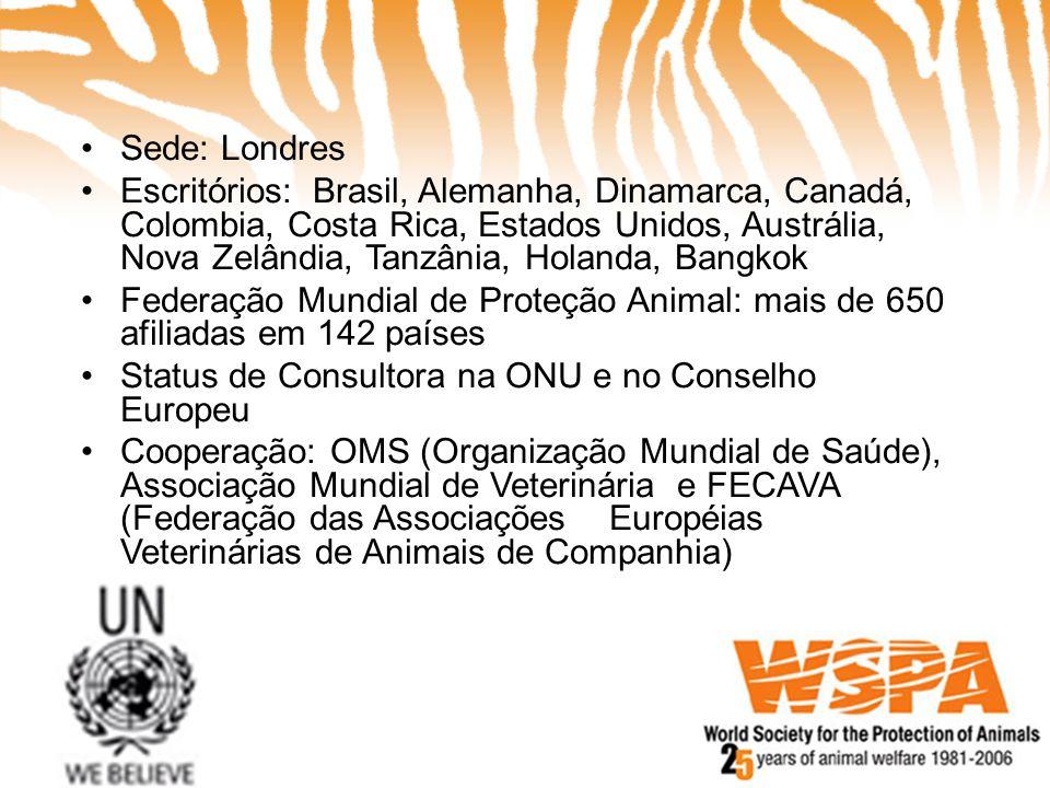 •Sede: Londres •Escritórios: Brasil, Alemanha, Dinamarca, Canadá, Colombia, Costa Rica, Estados Unidos, Austrália, Nova Zelândia, Tanzânia, Holanda, B