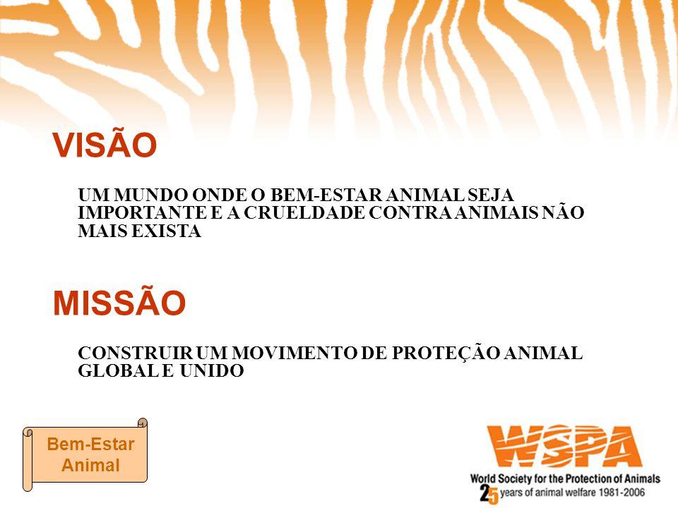 VISÃO UM MUNDO ONDE O BEM-ESTAR ANIMAL SEJA IMPORTANTE E A CRUELDADE CONTRA ANIMAIS NÃO MAIS EXISTA MISSÃO CONSTRUIR UM MOVIMENTO DE PROTEÇÃO ANIMAL G