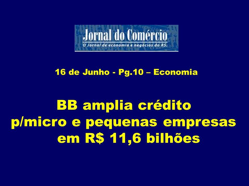 16 Junho - Pg.22 – Economia Alta de 70% nos embarques de arroz