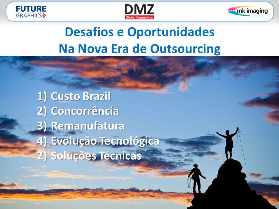Desafios e Oportunidades Na Nova Era de Outsourcing 1)Custo Brazil 2)Concorrência 3)Remanufatura 4)Evolução Tecnológica 2)Soluções Técnicas