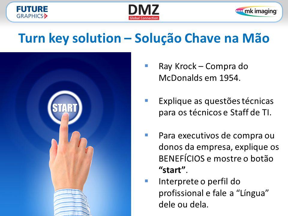 Turn key solution – Solução Chave na Mão  Ray Krock – Compra do McDonalds em 1954.  Explique as questões técnicas para os técnicos e Staff de TI. 