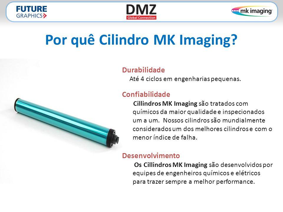 Por quê Cilindro MK Imaging? Durabilidade Até 4 ciclos em engenharias pequenas. Confiabilidade Cillindros MK Imaging são tratados com químicos da maio
