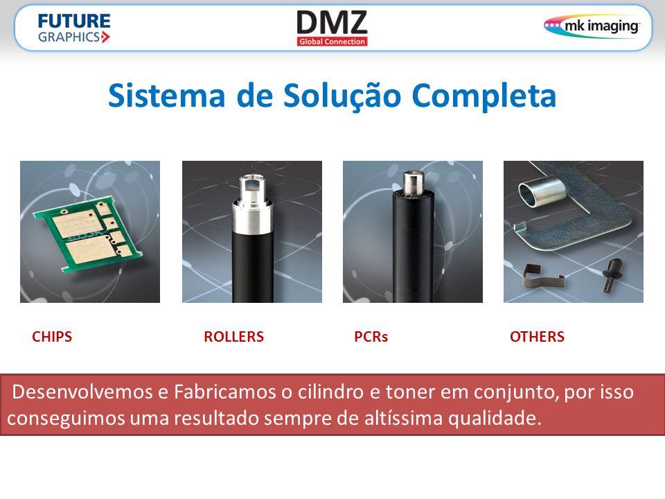 Sistema de Solução Completa CHIPSROLLERSPCRsOTHERS Desenvolvemos e Fabricamos o cilindro e toner em conjunto, por isso conseguimos uma resultado sempre de altíssima qualidade.