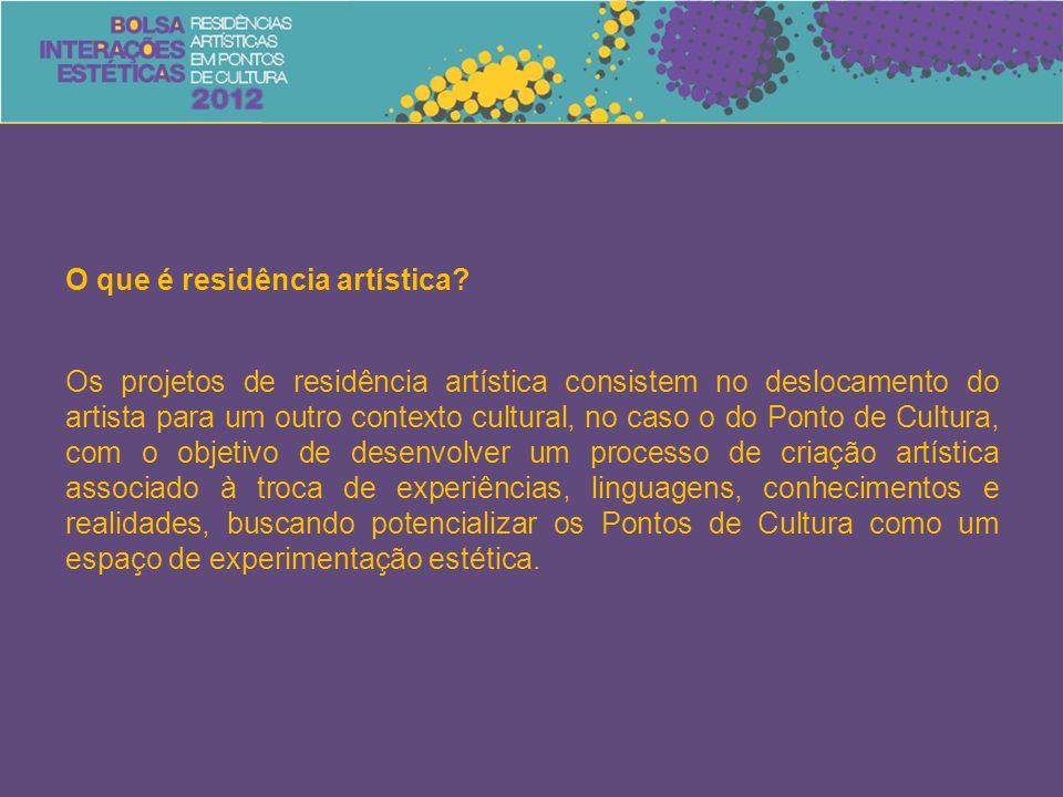 O que é residência artística? Os projetos de residência artística consistem no deslocamento do artista para um outro contexto cultural, no caso o do P