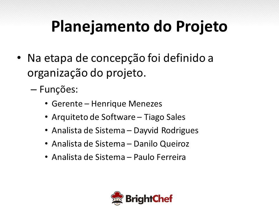 Ferramentas • Python • Django • Pyunit • PyAMF • Flex • Flex Builder 3 • PureMVC • Office 2007 • Jude • Notepad++ • Aptana • Microsoft Project • Git