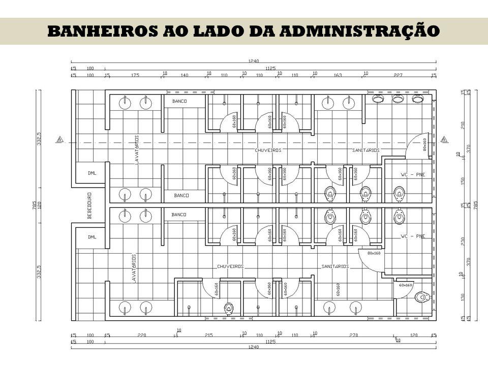 BANHEIROS AO LADO DA ADMINISTRAÇÃO