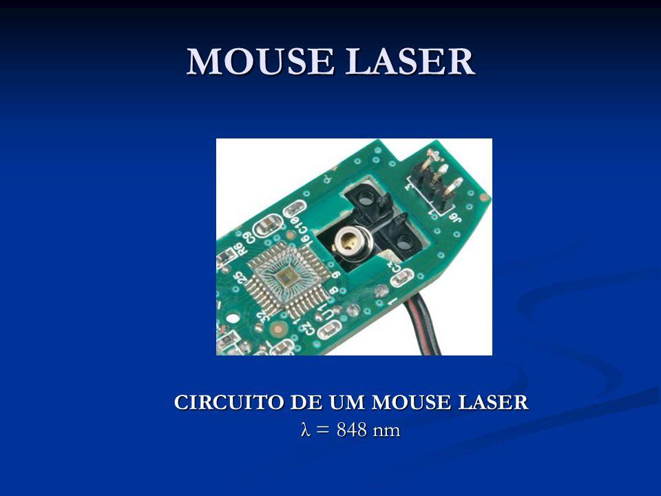 MOUSE LASER CIRCUITO DE UM MOUSE LASER λ = 848 nm