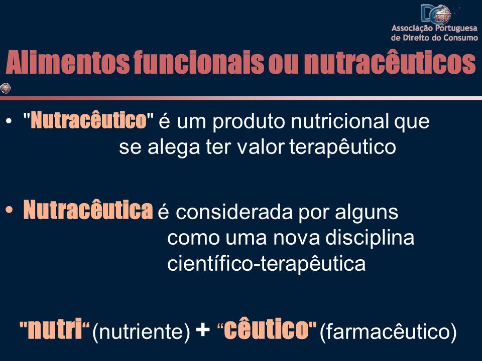 Alimentos funcionais ou nutracêuticos •