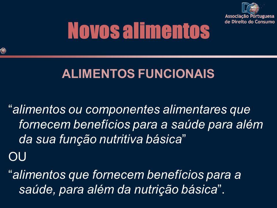 """Novos alimentos ALIMENTOS FUNCIONAIS """"alimentos ou componentes alimentares que fornecem benefícios para a saúde para além da sua função nutritiva bási"""