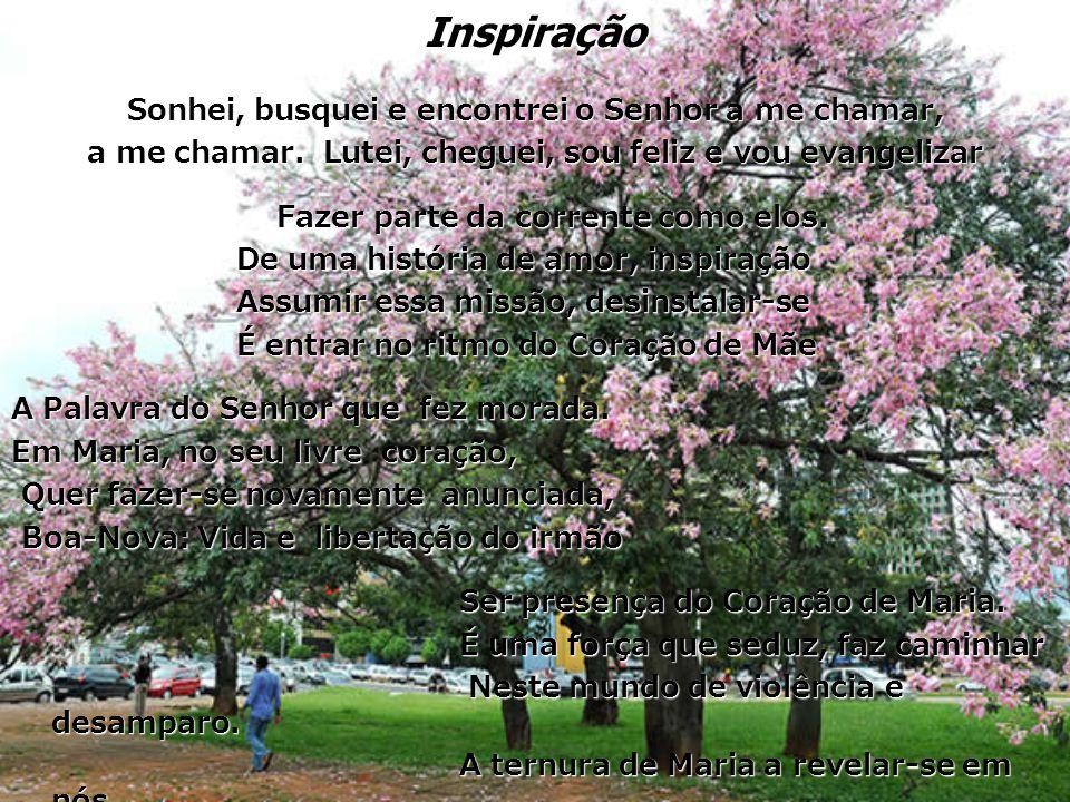 Inspiração Sonhei, busquei e encontrei o Senhor a me chamar, a me chamar.