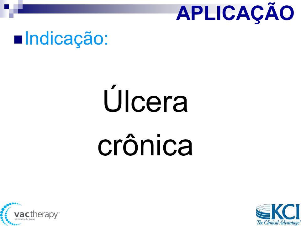 APLICAÇÃO  Indicação: Úlcera crônica