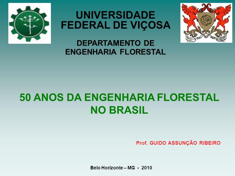 50 ANOS DA ENGENHARIA FLORESTAL NO BRASIL Prof. GUIDO ASSUNÇÃO RIBEIRO Belo Horizonte – MG - 2010 UNIVERSIDADE FEDERAL DE VIÇOSA DEPARTAMENTO DE ENGEN