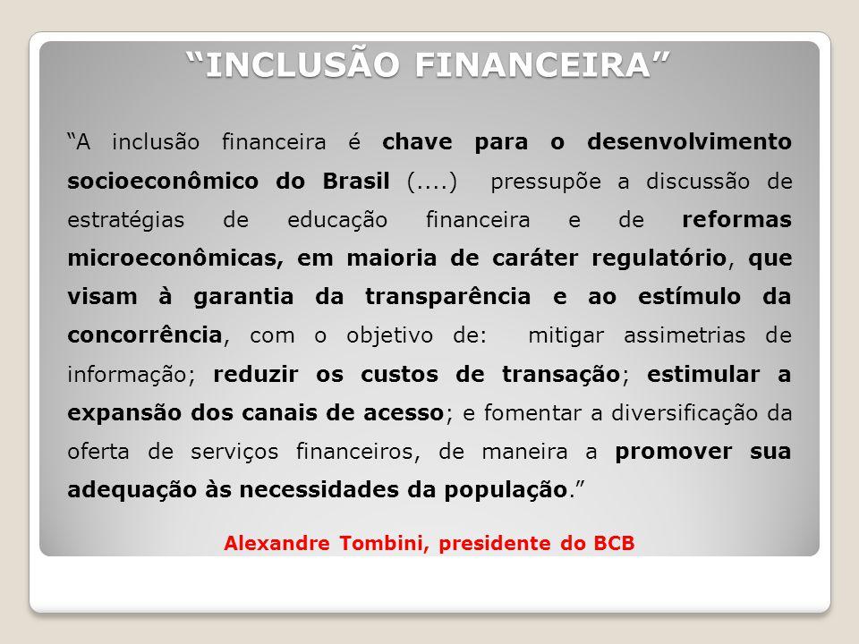"""""""INCLUSÃO FINANCEIRA"""" """"A inclusão financeira é chave para o desenvolvimento socioeconômico do Brasil (....) pressupõe a discussão de estratégias de ed"""