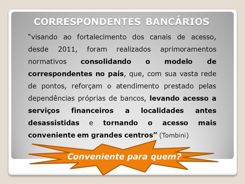 """""""visando ao fortalecimento dos canais de acesso, desde 2011, foram realizados aprimoramentos normativos consolidando o modelo de correspondentes no pa"""