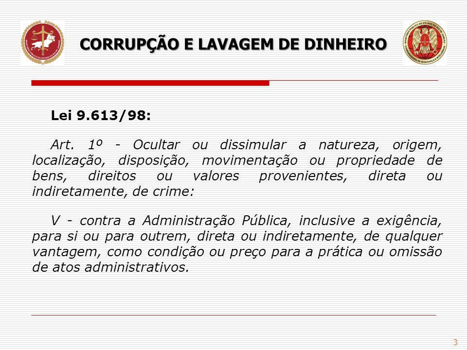 4 ENCCLA - Estratégia Nacional de Combate à Corrupção e à Lavagem de Dinheiro: Criada em 2003, consiste na articulação de diversos órgãos, com o objetivo de identificar e propor ajustes aos pontos falhos do sistema antilavagem e anticorrupção.