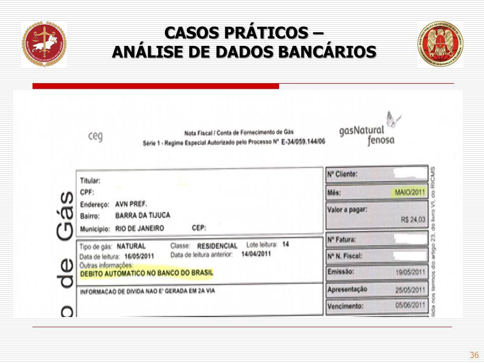 36 CASOS PRÁTICOS – ANÁLISE DE DADOS BANCÁRIOS