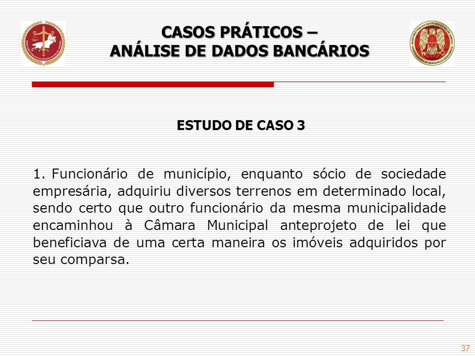 37 ESTUDO DE CASO 3 1.Funcionário de município, enquanto sócio de sociedade empresária, adquiriu diversos terrenos em determinado local, sendo certo q