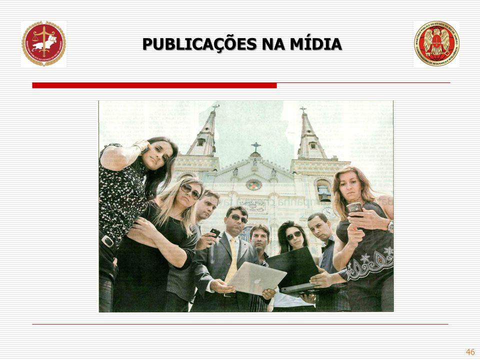 46 PUBLICAÇÕES NA MÍDIA
