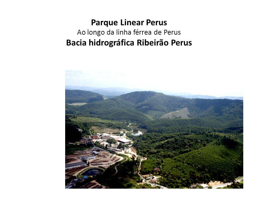 Parque Linear Perus Ao longo da linha férrea de Perus Bacia hidrográfica Ribeirão Perus