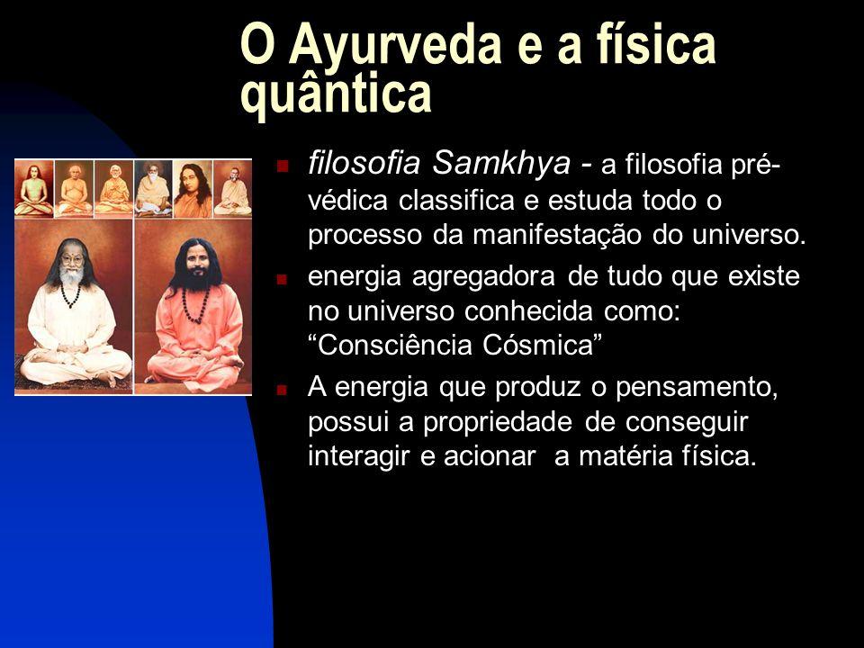 O Ayurveda e a física quântica  filosofia Samkhya - a filosofia pré- védica classifica e estuda todo o processo da manifestação do universo.