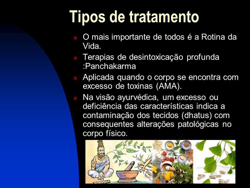 Tipos de tratamento  O mais importante de todos é a Rotina da Vida.