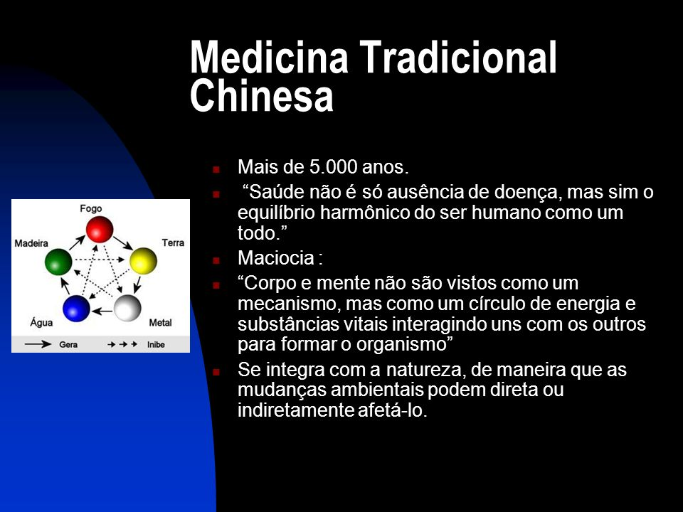 Medicina Tradicional Chinesa  Mais de 5.000 anos.