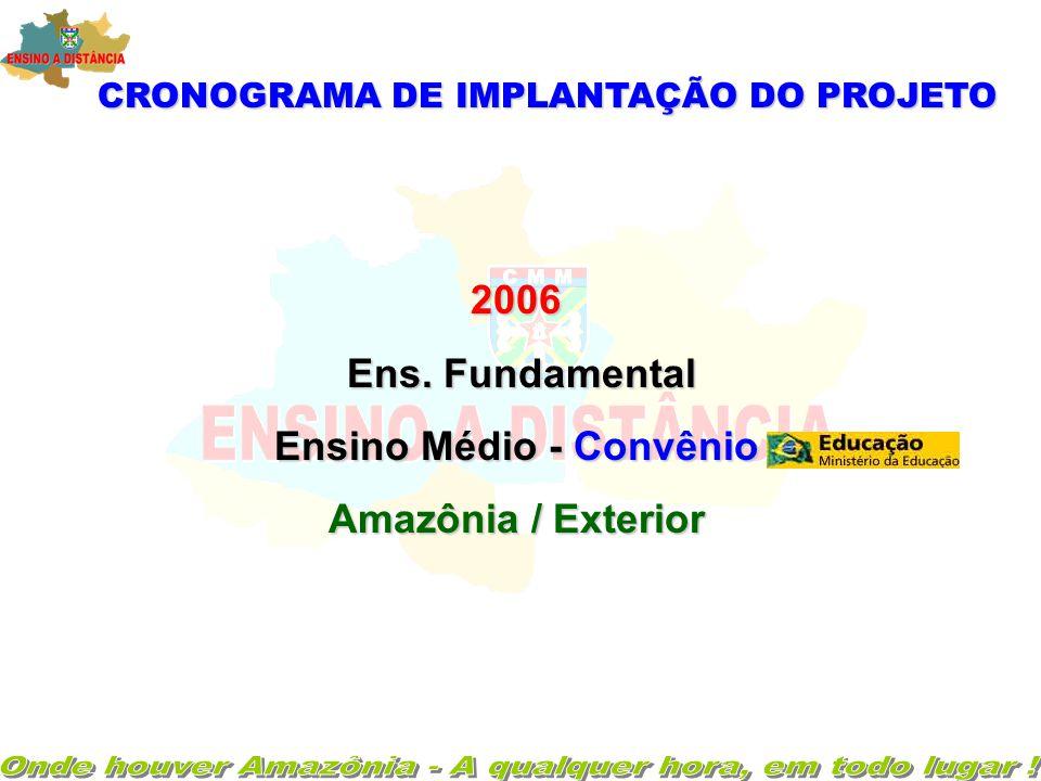 CRONOGRAMA DE IMPLANTAÇÃO DO PROJETO 2002 / 2003 - Ensino Fundamental ( 58Série)- - Ensino Fundamental ( 5 ª à 8 ª Série)-Amazônia 2004 / 2005 2004 /