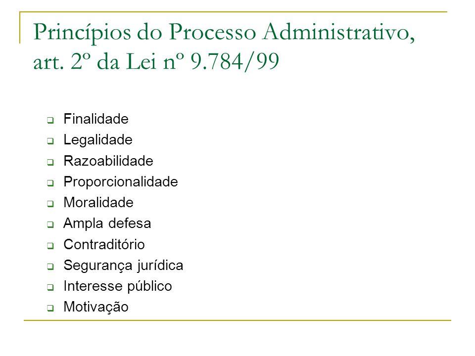 Princípios do Processo Administrativo, art.