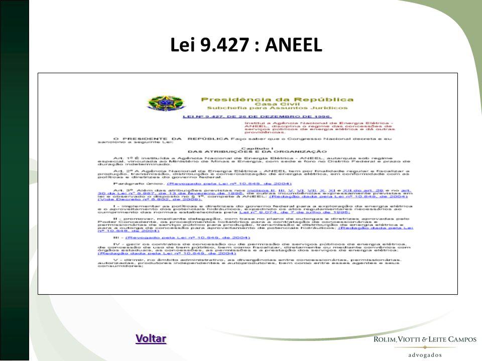 Lei 9.427 : ANEEL Voltar