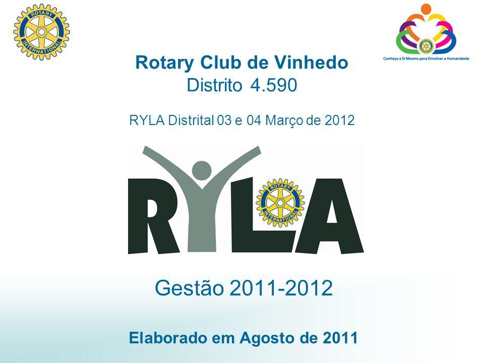 Gestão 2011-2012 Elaborado em Agosto de 2011 Rotary Club de Vinhedo Distrito 4.590 RYLA Distrital 03 e 04 Março de 2012